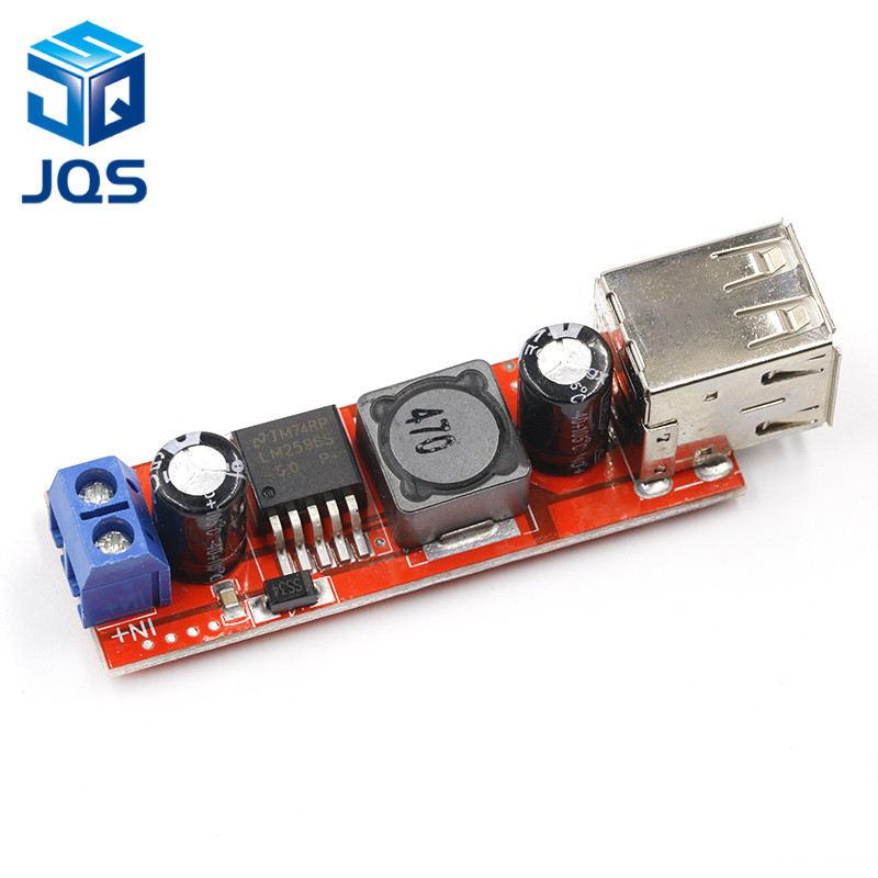 DC 6V-40V To 5V 3A Double USB Charge DC-DC Step-down Converter Module For Vehicle Charger LM2596 Dual USBDC 6V-40V To 5V 3A Double USB Charge DC-DC Step-down Converter Module For Vehicle Charger LM2596 Dual USB