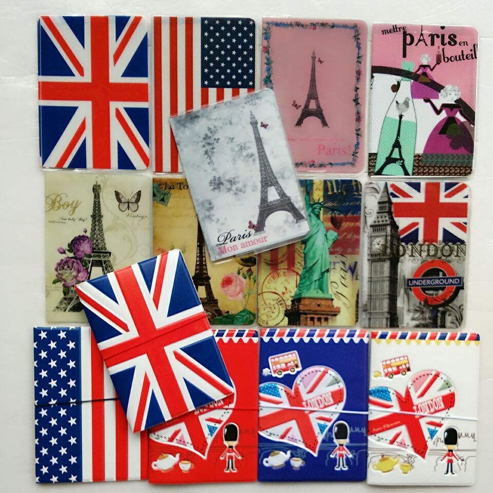 2018 NEW National Flag Passport Holder PVC/PU Leather Passport Cover Travel ID Card Case free shipping side slit fleece drop shoulder pullover hoodie