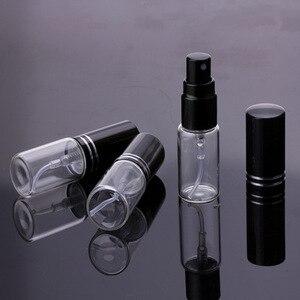 Image 2 - 100ピース/ロット5ミリリットル10ミリリットル15ミリリットルポータブル黒ガラス香水瓶空の化粧品容器のための旅行