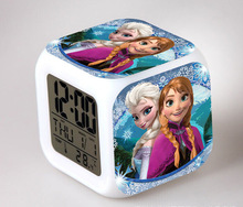 Alarm Clock with LED cartoon game Minecraft action toy figures Night light elsa anna Electronic Toys Relogio Despertador Digital
