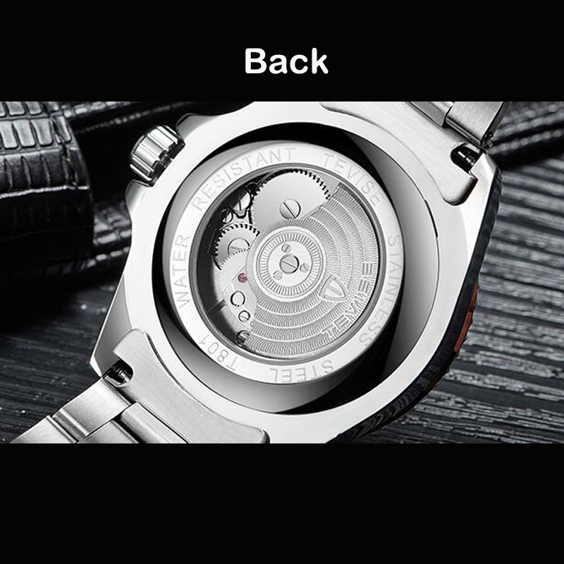 Drop Shipping Tevise Top Brand Men Mechanical Watch Automatic Fashion Luxury Stainless Steel Male Clock Relogio Masculino 2020 4
