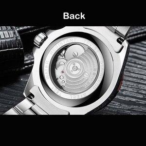 Image 4 - זרוק חינם Tevise למעלה מותג גברים מכאני שעון אוטומטי אופנה יוקרה נירוסטה זכר שעון Relogio Masculino 2020