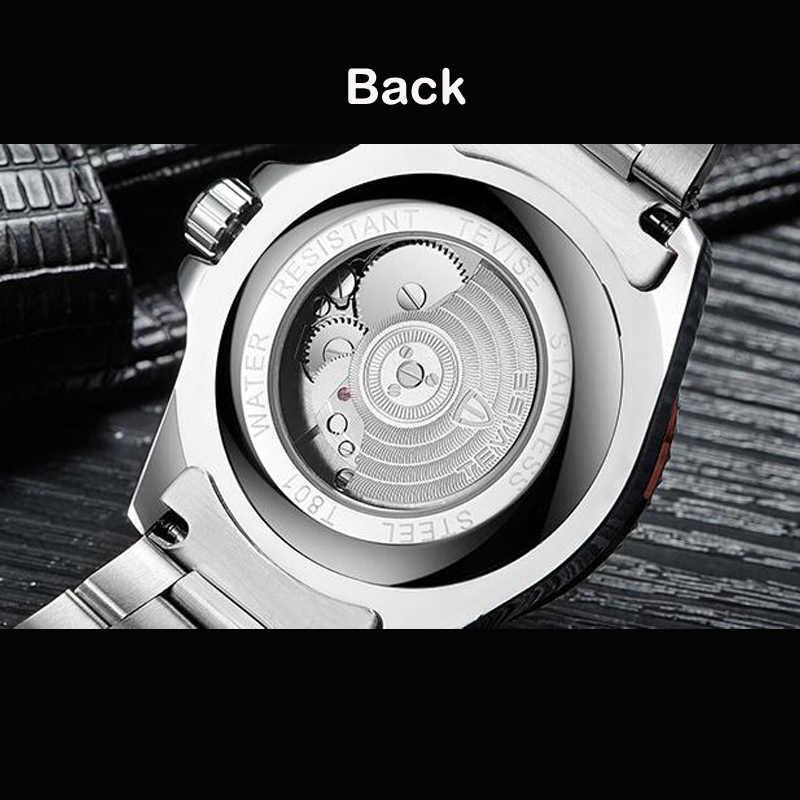 זרוק חינם Tevise למעלה מותג גברים מכאני שעון אוטומטי אופנה יוקרה נירוסטה זכר שעון Relogio Masculino 2020