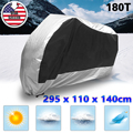 UXCELL Xxxl 180T Rain Dust Motorcycle Cover Silver&Black Outdoor Rainproof Uv Protector