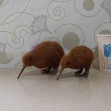 New Zealand National Bird Artificial Animal Model About  KiWi Bird Toy Fur& Polyethylene Deer Toy  Furnishing Gift