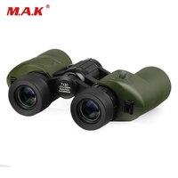 Military HD 7x30 Binoculars Waterproof Telescope Green Coating Binoculars Center Focusing for Watching Camping Hunting
