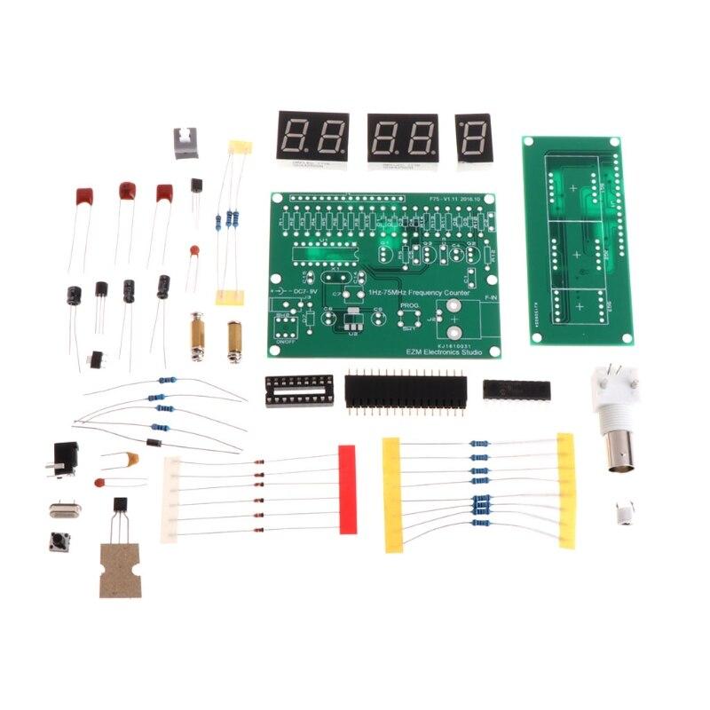 1Hz-75 MHz Compteur de Fréquence 7 V-9 V 50mA DIY Kit Cymometer Module Testeur Compteur L15