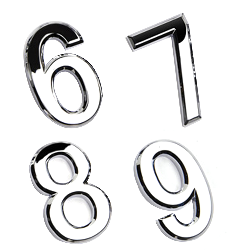 Placa de puerta de número Placa de Casa puerta enchapada 0 a 9 etiqueta de plástico número etiqueta de la puerta de la etiqueta engomada del hogar del Hotel