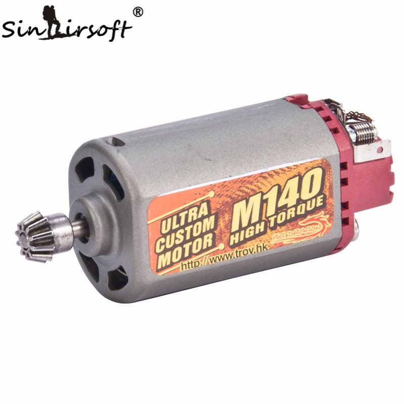 SINAIRSOFT Terminator Ultra Custom M140 High Twist Type Torque AEG Motor Short Axis For Airsoft AK Series Hunting Accessories