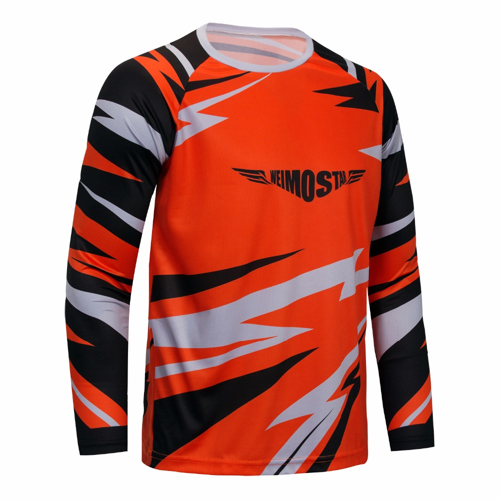 Weimostar mtb Bike jersey maillot ciclismo Team Pro Riding Cycling Jersey Mortocicle Bicycle Long Sleeve Clothing Shirt Tops
