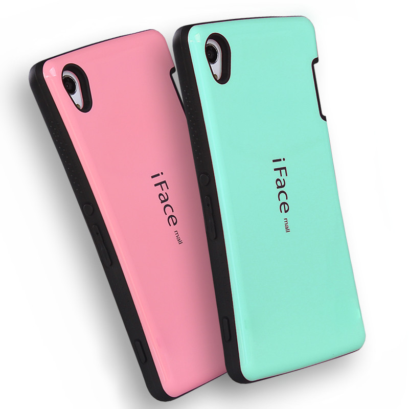 iFace Mall Dropproof Case Cover For Sony Xperia Z2 Z3 Z4 M4 TPU+PC Shockproof Anti-knock Phone Shell