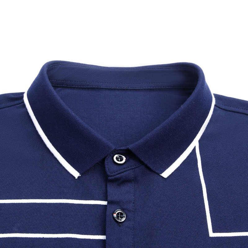 2020 nowa marka modowa koszulka Polo męska top w kratkę klasy lato z krótkim rękawem Slim Fit bawełna chłopcy Poloshirt Casual odzież męska