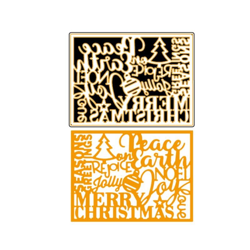Frohe Weihnachten Schablone.Frohe Weihnachten Saison Grusse Jolly Rahmen Schablone Metall Schneiden Stirbt Diy Scrapbooking Handwerk Liefert Papier Karten Neue 2018
