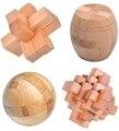 4 шт./лот 3D деревянные головоломки IQ логические блокировка заусенцев головоломки игры игрушки для взрослых детей детей