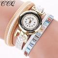 CCQ Fashion Leather Bracelet Watches Casual Vintage Women Wristwatch Luxury Quartz Watch Relogio Feminino Gift C55