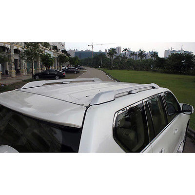 Aluminum Alloy  Silver  Accessories Luggage Carrier Bar Roof Rails Rack Bars For Toyota Land Cruiser FJ150 2014 2015 2016 2017 black color top roof rails rack luggage carrier bars for mitsubishi asx outlander sport 2013 2014 2015 2016