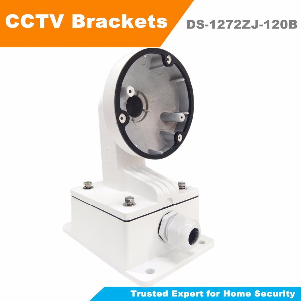 In Stock CCTV Wall Mount Bracket DS-1272ZJ-120B High Quality CCTV Bracket for Mini Dome DS-2CD25xx Series Camera Support ds 1276zj corner mount bracket for cctv camera