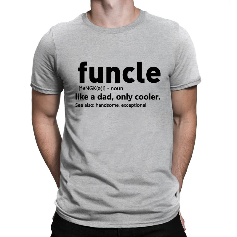 BLWHSA Funcle Printed T font b Shirt b font Men Printing Letter Like A Dad Only