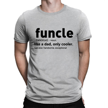 BLWHSA Funcle Printed T Shirt Men Printing Letter Like A Dad Only Cooler Funny Cool T-shirts Summer Hip Hop Dad Gift Men Tees