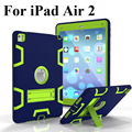 For Apple iPad Air 2 Armor Shockproof Hybrid Protective Stand Cover Case For iPad 6