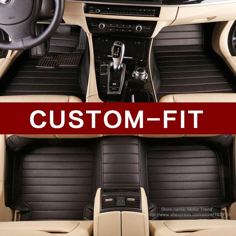 Custom fit voiture tapis de sol pour Toyota Sequoia 4Runner3D heavy duty all weather voiture de coiffure en cuir tapis étage liners (2008-now)