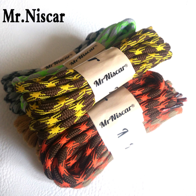 Mr.Niscar 2 Pair Outdoor Sports Hiking Round Shoelaces Anti-Skid Rope Shoe Laces Casual Sneakers Bootlaces Strings 120-160cm merrto men s outdoor cowhide hiking shoe multi fundtion waterproof anti skid walking sneakers wear resistance sport camping shoe