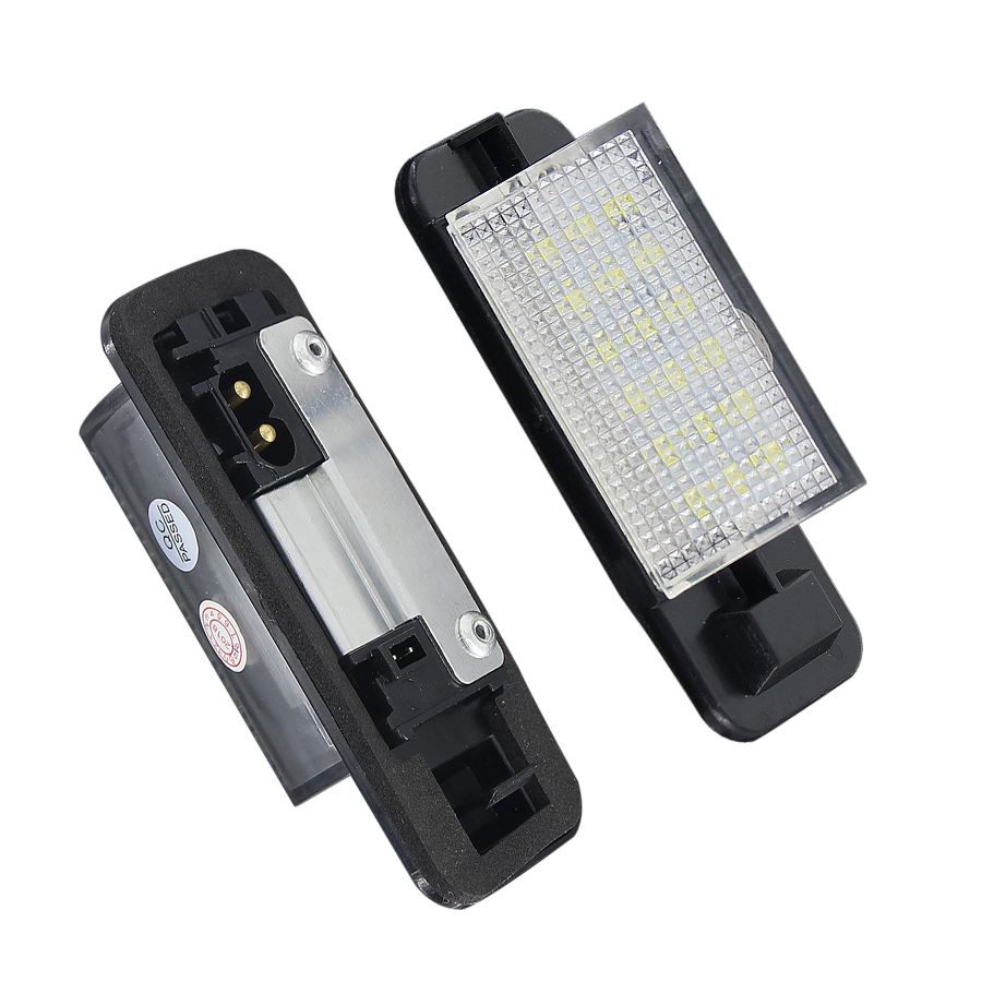2 Pcs For BMW <font><b>E36</b></font> <font><b>Led</b></font> License Plate Light 2835 SMD 6000k White 12v Number Plate Lamp Bulbs For BMW <font><b>E36</b></font> 318i 318is 318ti 325i image