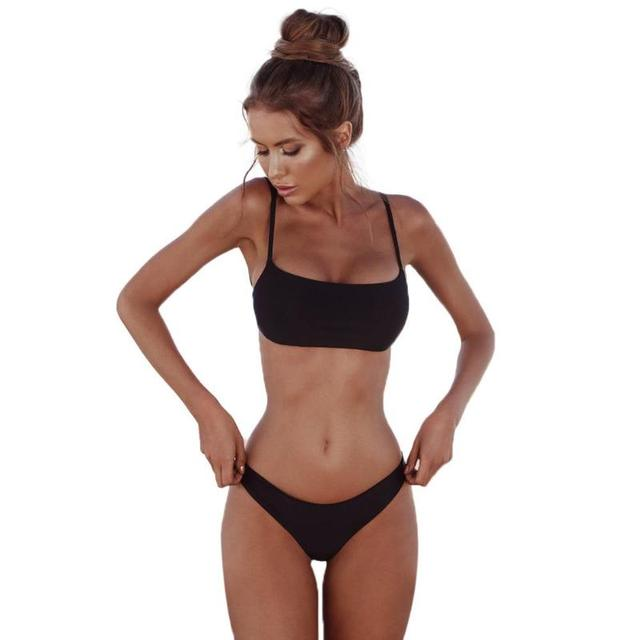 Summer Solid Sexy Bikini Set Women Push-up Padded Bra Swimsuit Swimwear Triangle Bather Suit Swimming Suit biquini 4