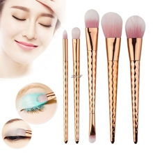 2017  5PCS Makeup Brushes Wave Gradient Cosmetic Foundation Professional Eye Brush Set JUL25_46