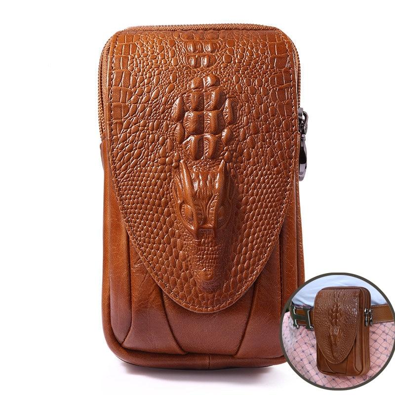 Модная кожаная сумка на ремне Для мужчин Пояса из натуральной кожи теплые Телефон чехол для iPhone/Samsung/Huawei ремешках поясная сумка 4.7 ~ 6.0''