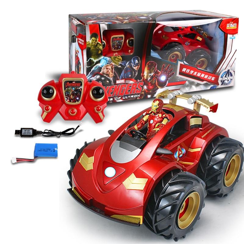 Electric Superhero Ironman Robot Car 1:28RC Cars 2.4G 20KM/H Racing Car amphibious Remote Control Robot Car Toys for Gifts michael kors mk2420