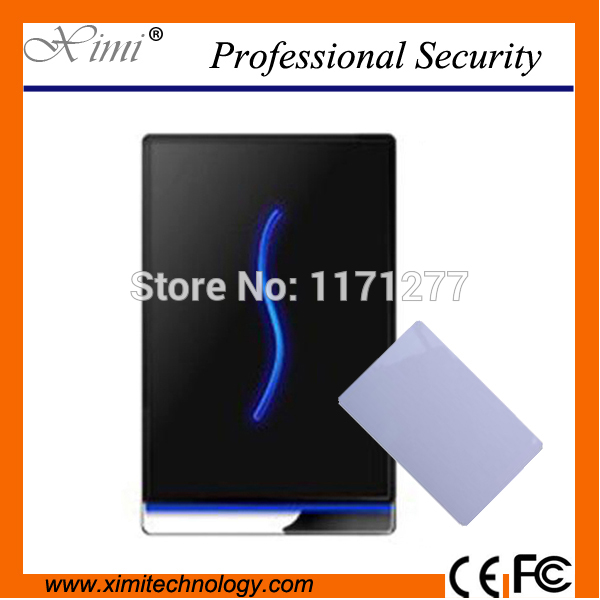 Free shipping biometric card access control 13.56MHz time attendance and access control SCR100 with 10pcs mifare card as gift free sipping swipe card network access reader zk scr100 school attendance free software sdk offered lowest price in aliexpress