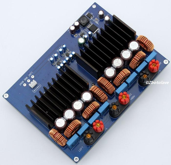TAS5630 2.0 Class D DC48V high power digital amplifier board 1200W tas5630 amplifier class d board high power finished boards mono 600w for subwoofer or full range diy free shipping