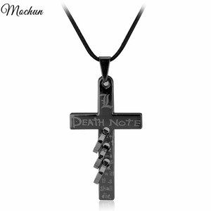 MQCHUN Anime Death Note Black Metal Necklace Cross Logo Pendant Cosplay Accessories Jewelry Can Drop-Shipping Direct Manufacture