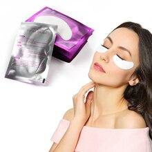 50 пар одноразовых подушек для наращивания ресниц патчи для глаз бумажные накладки для ресниц безворсовые накладки для ресниц Набор наклеек для макияжа
