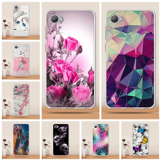 various colors a905a 76871 Case For HTC Desire 12 Case Silicone Cover for HTC Desire 12 TPU Cover  Coque 3D Printing funda for HTC Desire 12 Phone Case Capa
