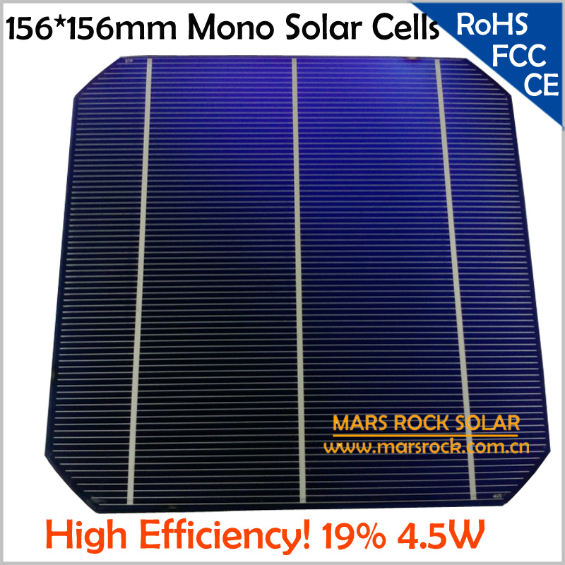 50 pcs lote top grau monocristalino celula solar 6x6 19 de alta eficiencia de celulas solares