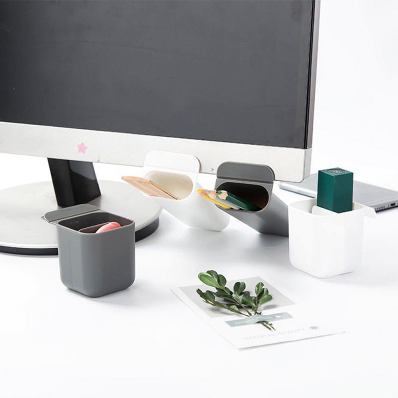 1PC DIY Pencil Storage Box Desktop Organizer Home Office Storage Desk Pen Case Multigrid Paste Storage Container Organiser
