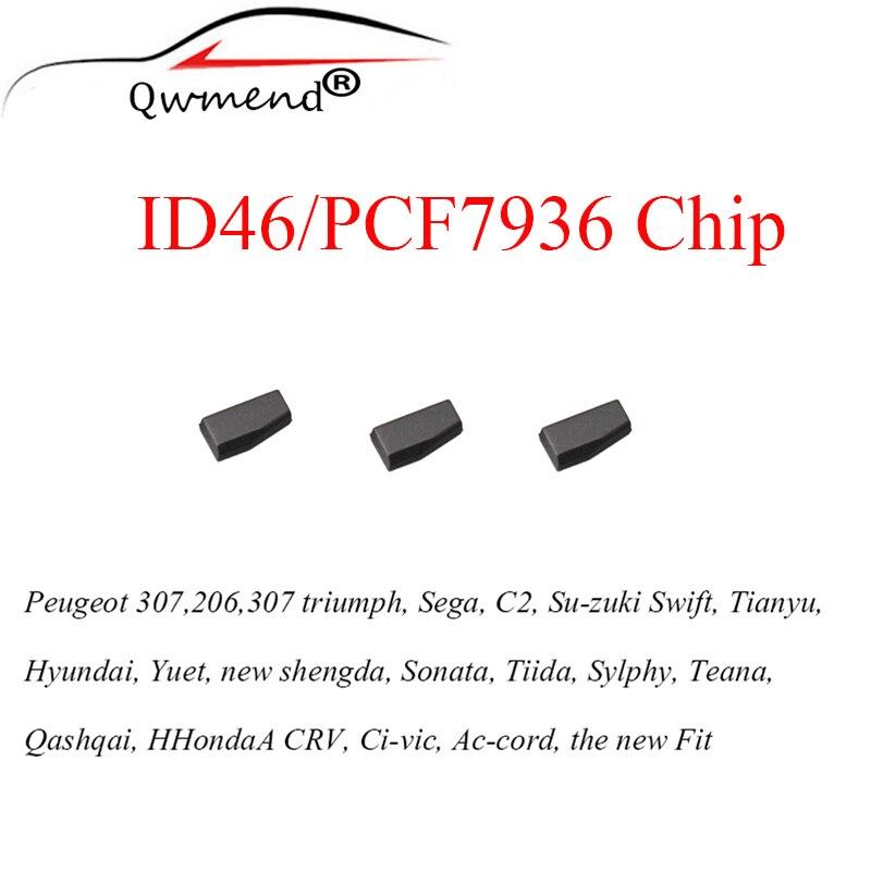 3pcs/lot Car Key Transponder Blank PCF7936AS PCF7936 Id46 Tango Transponder Chip For Honda For Nissan For Peugeot For Citroen