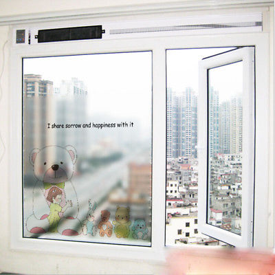Waterproof Glass Frosted Bathroom Window Privacy Self Adhesive Film Stickers