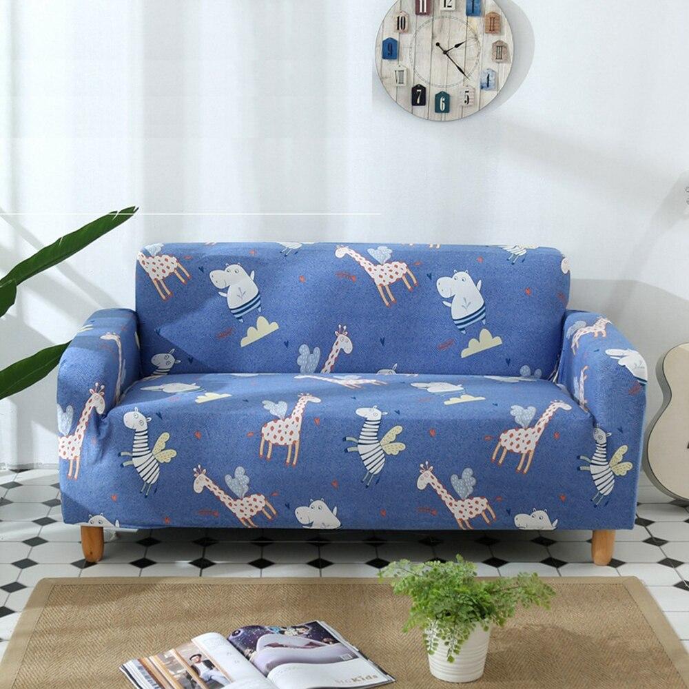 Super Kids Sofa Cover Cartoon Giraffe Zebra Hippo Elastic Andrewgaddart Wooden Chair Designs For Living Room Andrewgaddartcom
