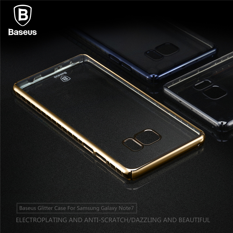 New! Baseus For Samsung Galaxy Note7 Mobile Phone Case Drop proof Laser Plating Back Cover Shell For Samsung Galaxy Note 7
