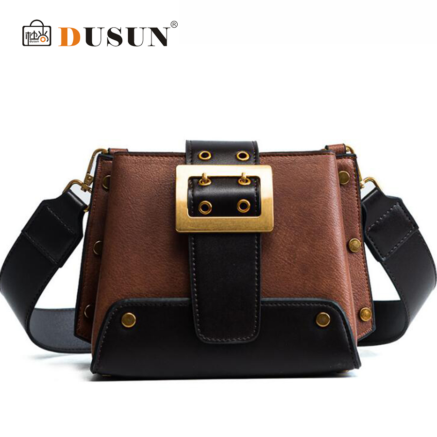 Women 2018 Shoulder bag Small Square Bag Width Shoulder Strap Fashion Messenger Girl Diagonal Luxury Designer Women Bags Female