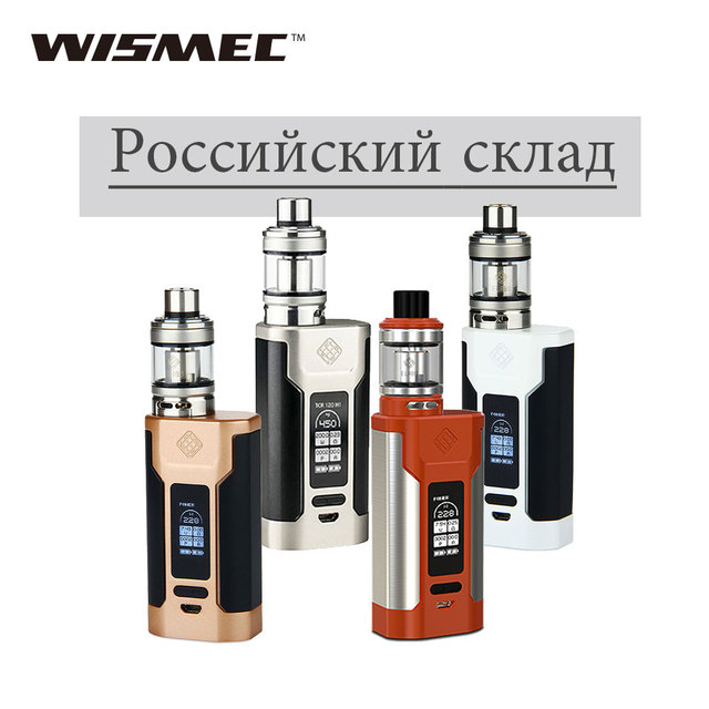 Русский склад wismec Predator 228 комплект с Elabo Tank 4,9 мл/4,6 мл тройной NS катушка электронная сигарета Vape комплект 228 Вт Хищник Vape комплект