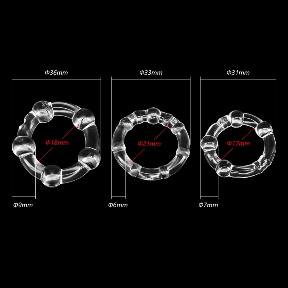 3 Colors Penis Ring Delaying Ejaculation Silicone Cock Rings Multi-color Small Sex Toys for Couples Lock Ejaculation Sex Rings 13