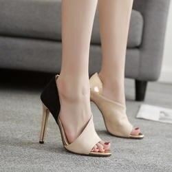 Пэчворк туфли женские туфли на высоком каблуке Роскошные шлёпанцы Модные Босоножки с открытым носком дизайнерские разноцветные zapatos mujer