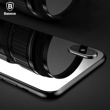 Baseus 0.3mm Back Screen Protector For iPhone X Rear Tempered Glass For iPhone X 10 Reverse Full Protective Toughened Glass Film