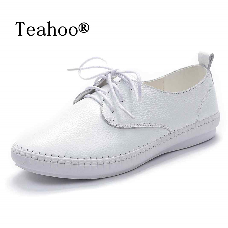 2017 Autumn Casual Soft Flats Shoes Woman White Black Real Leather Shoes Flats Moccasins Loafers Ladies Slip On Driving Footwear 2017 autumn fashion real leather women flats moccasins comfortable summer ladies shoes cut outs loafers woman casual shoes st181