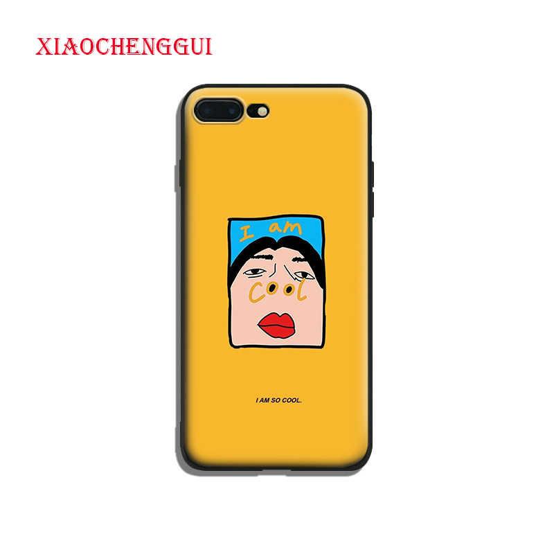 Aku Sangat Keren Lucu Humor Lukisan Lembut Silicone Ponsel Case Penutup Shell UNTUK iPhone 5 SE 5 5 S 6 6 S Plus 7 8 7 Plus 8 Plus X XR X Max
