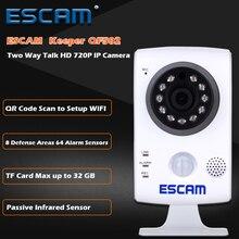 ESCAM Keeper QF502 Wifi Mini Household IP Camera 1.0MP HD 720P Onvif P2P indoor Surveillance Night Vision Security CCTV Camera